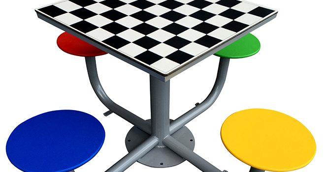 Mesas de ajedrez para parques públicos