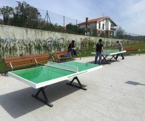 Mesas de Ping Pong Antivandálicas. Vista juego