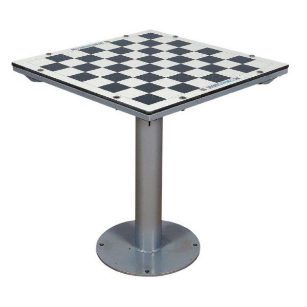 Mesa de juego de exterior antivandalica de ajedrez