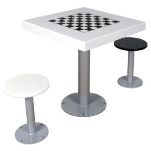 Mesa de exterior de ajedrez