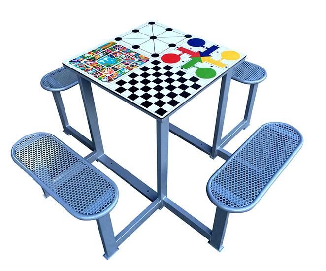 Mesa multijuegos 4 asientos exterior deportes urbanos for Petropolis juego de mesa