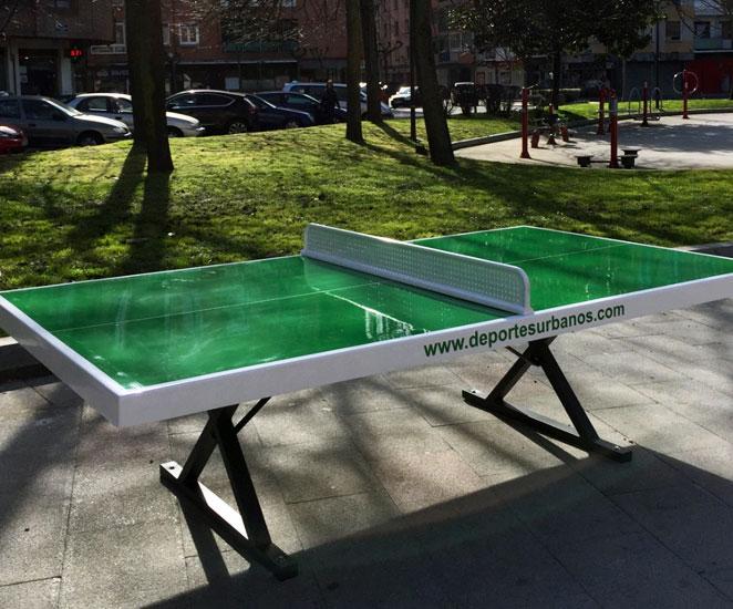 Mesas de ping pong de exterior antivandálicas