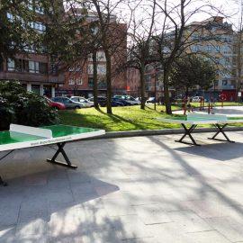 Mesa de ping pong exterior antivandálica fija