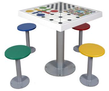 mesa de juego para exterior