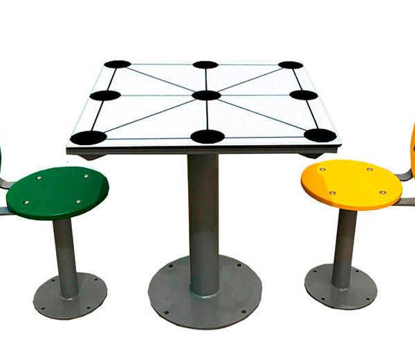 mesa 3 en raya antivandalica