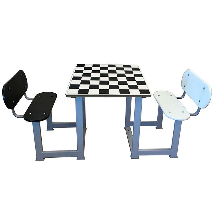 Mesa de ajedrez de exterior para personas mayores