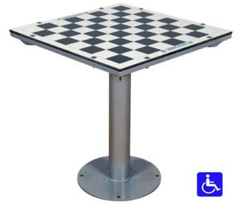 mesa de ajedrez para exterior antivandálica adaptada