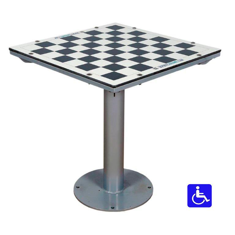 Mesa de ajedrez para exterior antivand lica adaptada - Mesas para exterior ...