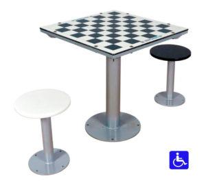 mesa de ajedrez para parques