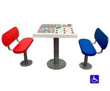 mesa multijuegos adaptada