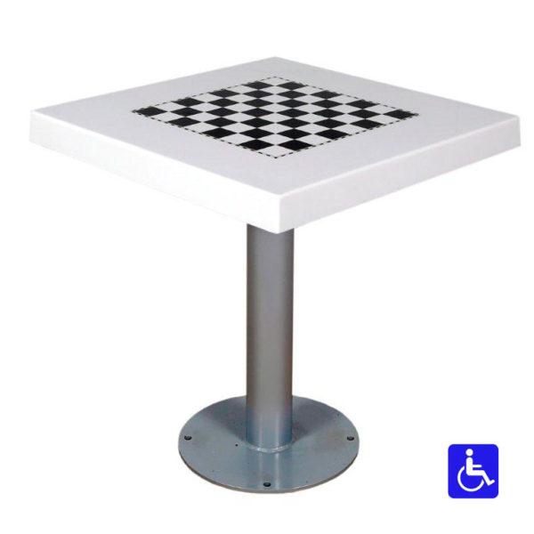 Tablero de ajedrez para exterior antivandálico adaptado