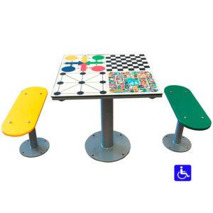 mesa de parchís para exterior