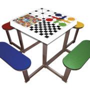 mesa multijuegos para exteriores