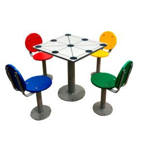 mesa 3 en raya para parques y plazas
