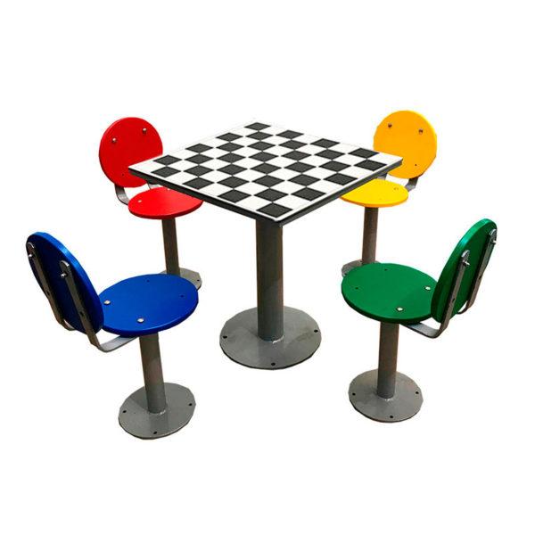 mesa de ajedrez de exterior