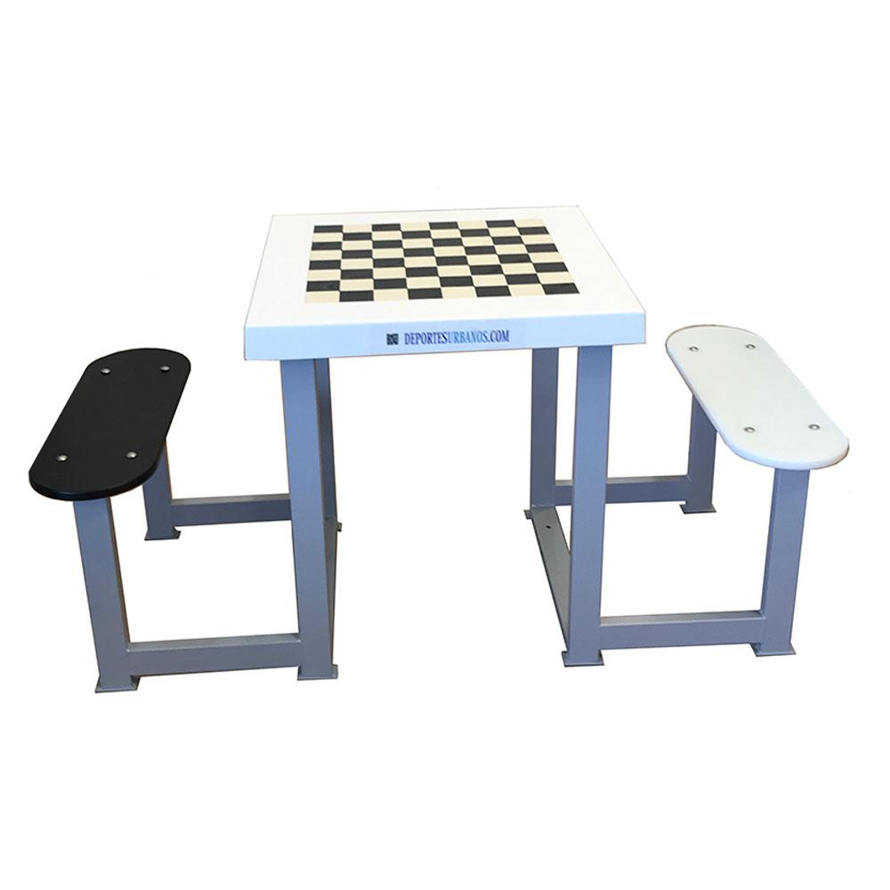 mesa exterior de ajedrez para 2 personas
