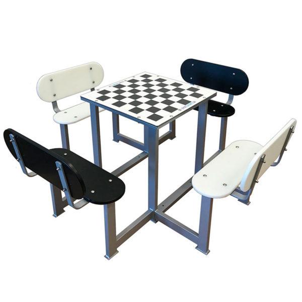 Mesas de ajedrez de exterior antivandálicas