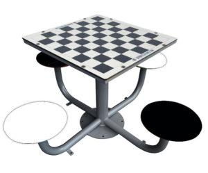 mesas de exterior de ajedrez