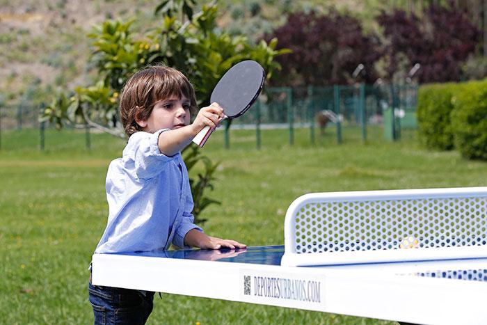 Mesas de ping pong antivand licas para colegios deportes for Mesa de ping pong exterior