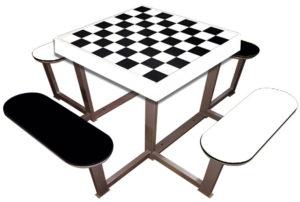 mesas exteriores de ajedrez