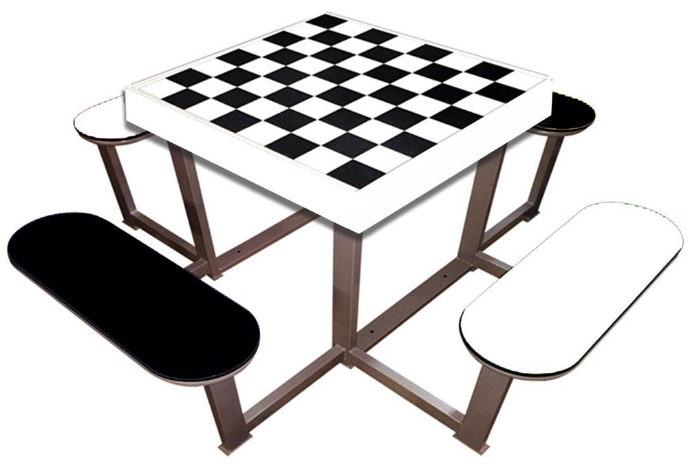 Mesas exteriores de ajedrez totalmente antivand licas - Mesas para exterior ...