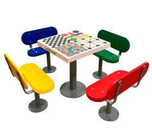 Mesas de juegos exterior para colegios e institutos