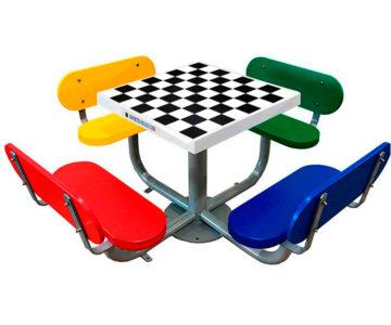 Mesas de ajedrez antivandálicas de exterior
