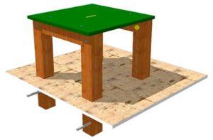 obstaculos de agility para parques caninos: mesa