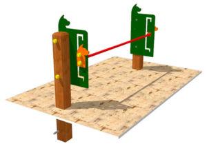 obstaculos de agility para parques caninos: saltos