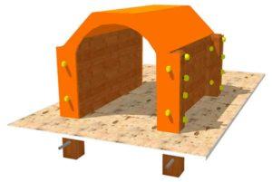 obstaculos de agility para parques caninos: túnel
