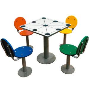 Juegos de mesa de exterior antivandálica