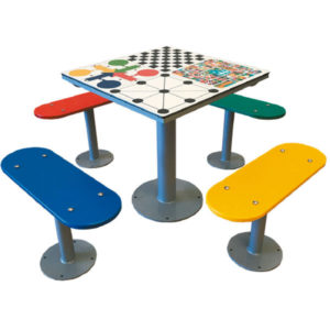 Fabricantes de mesas multijuegos de exterior antivandálicas