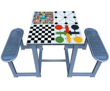 mesa multijuegos de exterior 4 en 1