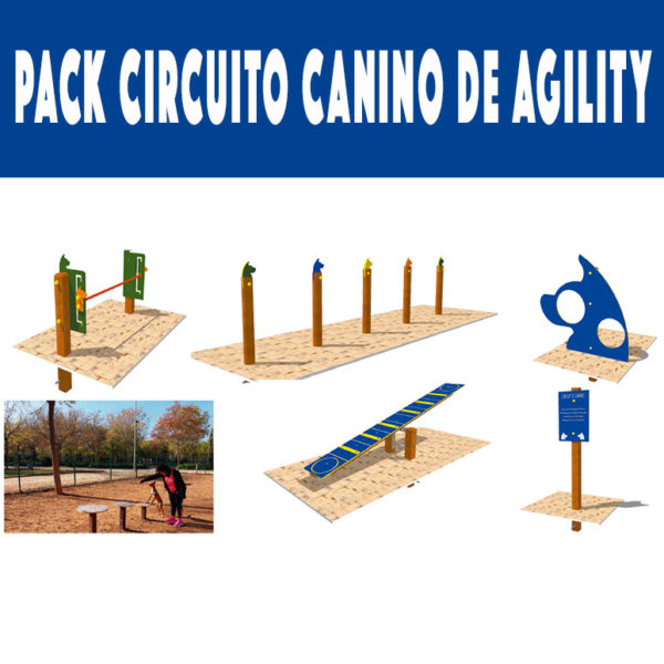 Circuito canino de agility completo