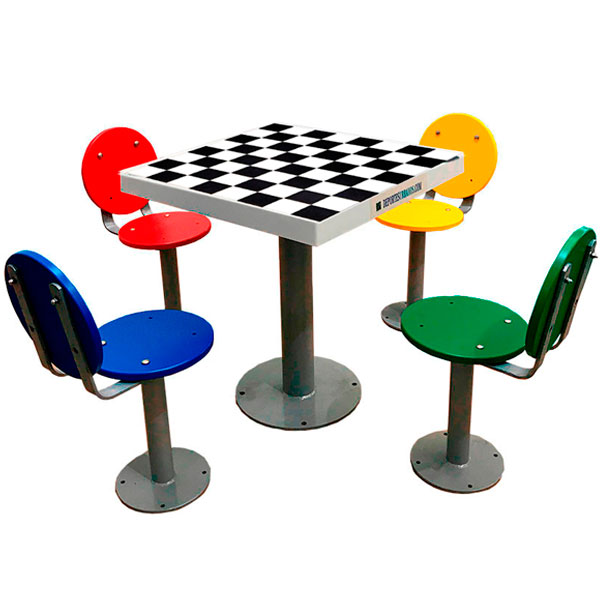 Tablero de ajedrez de exterior antivand lico para colegios - Tablero para exterior ...
