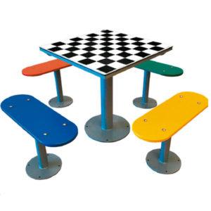 Fabricantes de mesas de ajedrez de exterior antivandálicas
