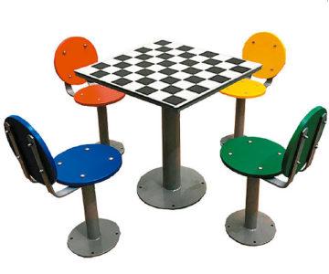 mesa de ajedrez de exterior para colegios