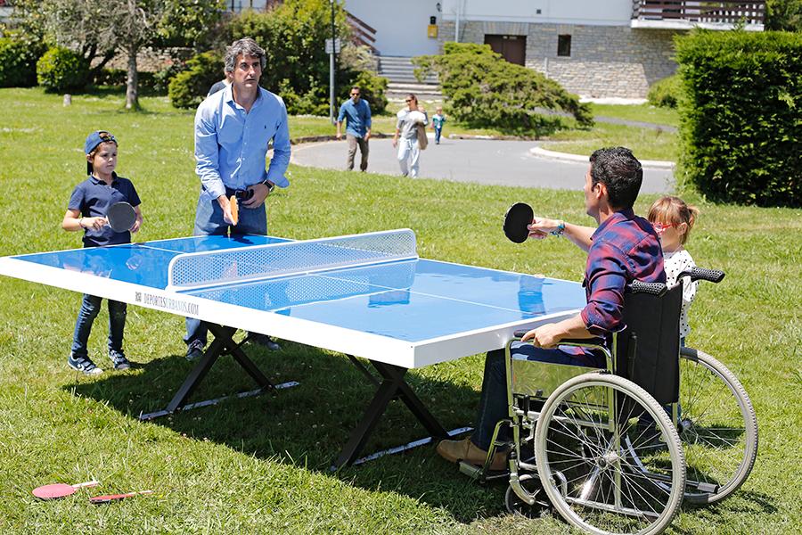 Mesa de ping pong exterior antivand lica adaptada for Mesa de ping pong exterior