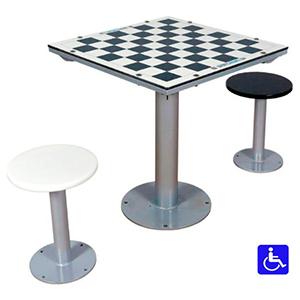 mesas de ajedrez de exterior antivandalicas para parques