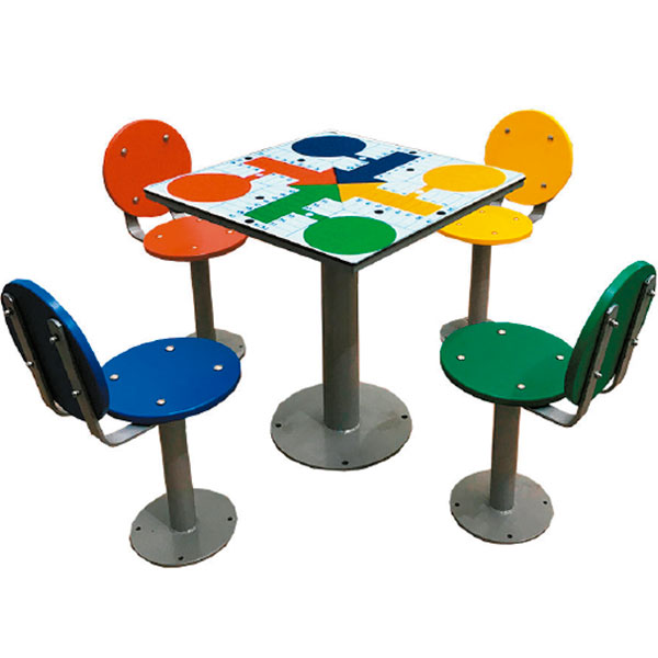 Parchís con mesa antivandálica para colegios e institutos