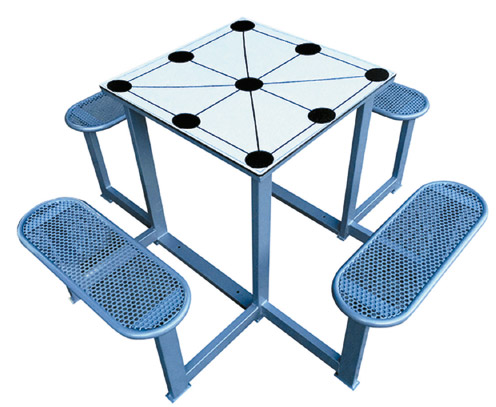 promoción de 2 mesas de exterior multijuegos antivandálicas