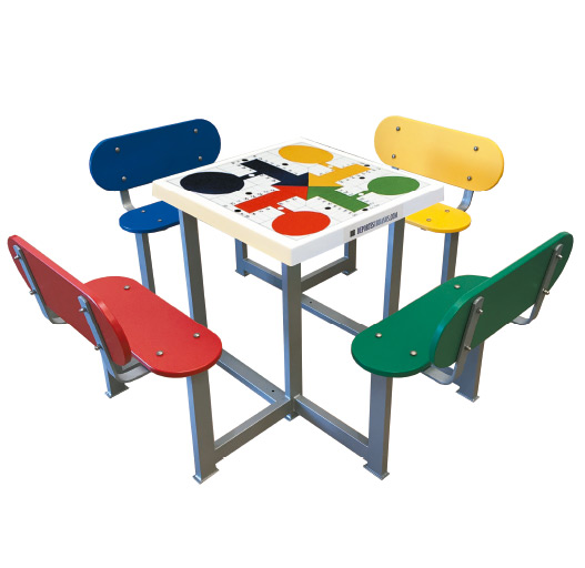 Mesas de parchís para colegios, parques y plazas