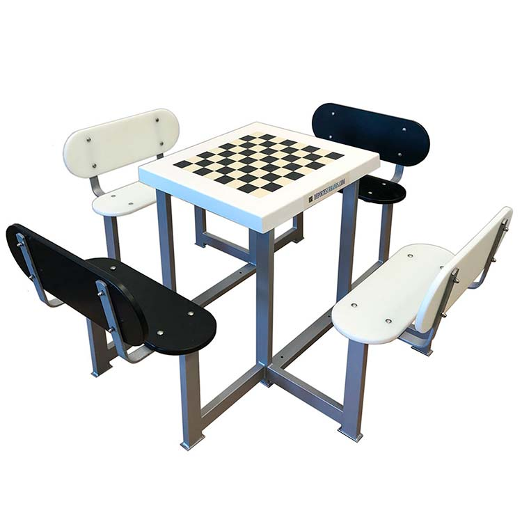 mesa de ajedrez antivandálica para parques y plazas
