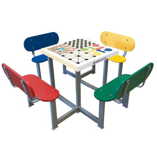 mesa multijuegos exterior antivandálica.