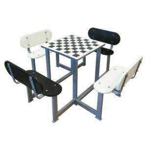 Mesa de ajedrez de exterior antivandálica para patios de colegios