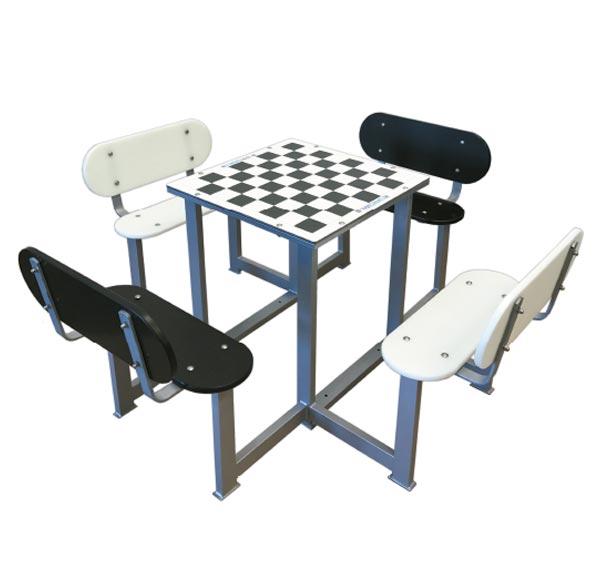 Mesa de ajedrez de exterior antivand lica para patios de for Mesas para patio