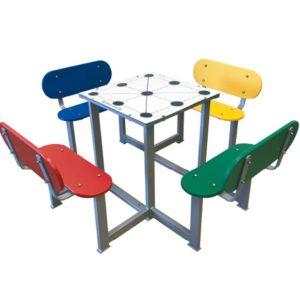 Mesas de juegos antivandálicas para patios de colegios