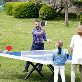 Mesas de ping pong antivandálicas resistentes a la corrosión