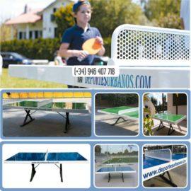 Mesas antivandálicas de ping pong