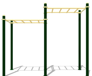 Equipamiento de Street Workout y Calistenia: Escalera doble